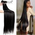 Бразильские пряди волос 40 дюймов, прямые пучки волос, 100% натуральные человеческие волосы Remy, бразильские прямые человеческие волосы для нар...