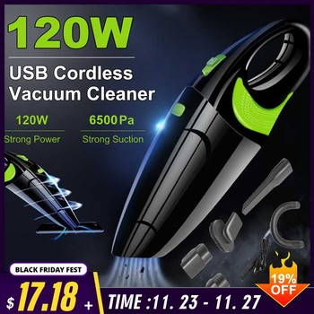 6500Pa Powerful Wireless Car Vacuum Cleaner Portable Handheld 120W USB Cordless Wet&Dry Use Rechargeable Home Car Vacuum Cleaner handheld wireless vacuum cleaner home 120w usb cordless wet dry mini vacuum cleaner dust collector for home car cleaning