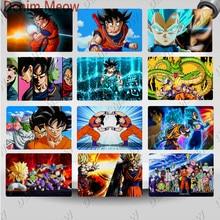 Nuevo estilo de Japón, cartel de Metal de lata de Anime Vintage Son Goku, Adhesivo de pared, Dragon Ball, habitación de los niños, impresión decorativa, cartel de Metal WY119