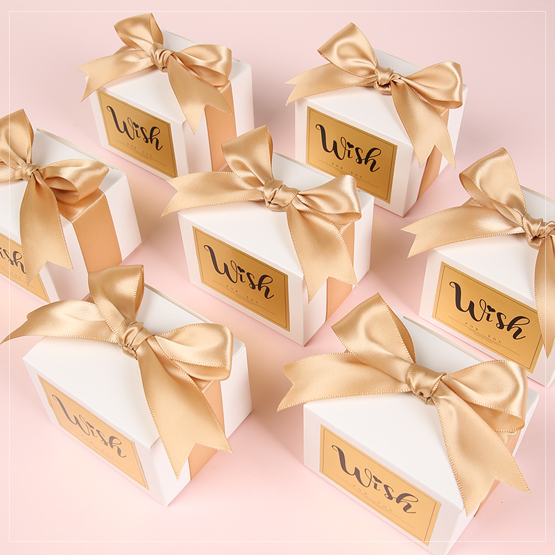 Personnalisé élégant papier boîte à bonbons chocolat faveur cadeaux boîtes pour mariage bébé douche anniversaire cadeau paquet 100 pièces lot
