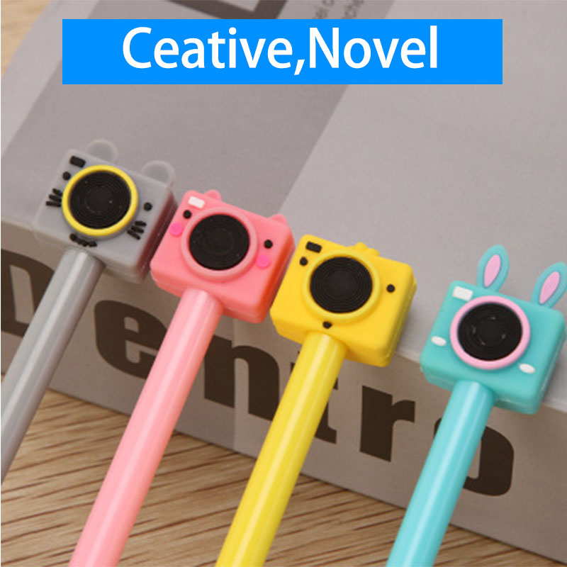 Korean Creative Camera Gel Pens Stationery Cartoon Cute Black Neutral Pen Office & School Supplies
