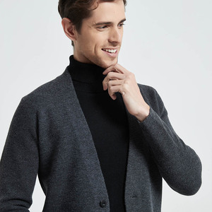 Image 4 - Coodrony marca camisola masculina streetwear moda camisola casaco masculino com bolsos outono inverno quente cashmere lã cardigan 91105