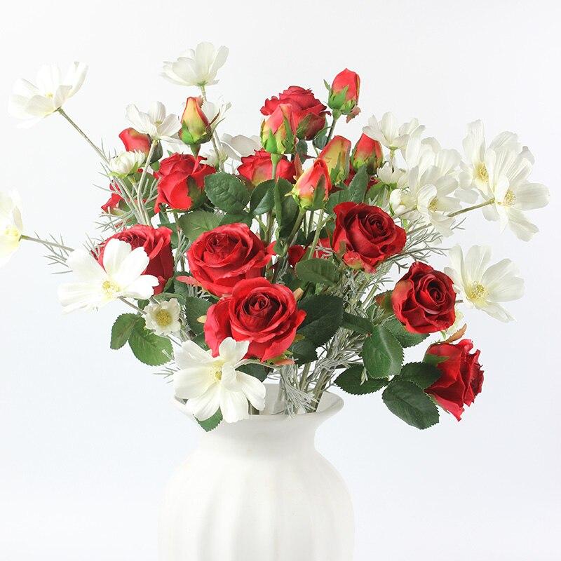 Cabeças por Peças Flores de Seda Decoração para Casa Peças Alta Qualidade Crisântemo Flores Margarida Flor Decorativa Camomila 15 6