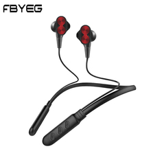 FBYEG Neckband Earphone Bluetooth Wireless Headphone Bass Sport Headset bluetooth Earbuds Stereo earpiece with MIC for phone hevaral magnetic neckband wireless earphone sport bluetooth 5 0 headphone with mic sweatproof bass headset earpiece auriculares page 5 page 5 page 3
