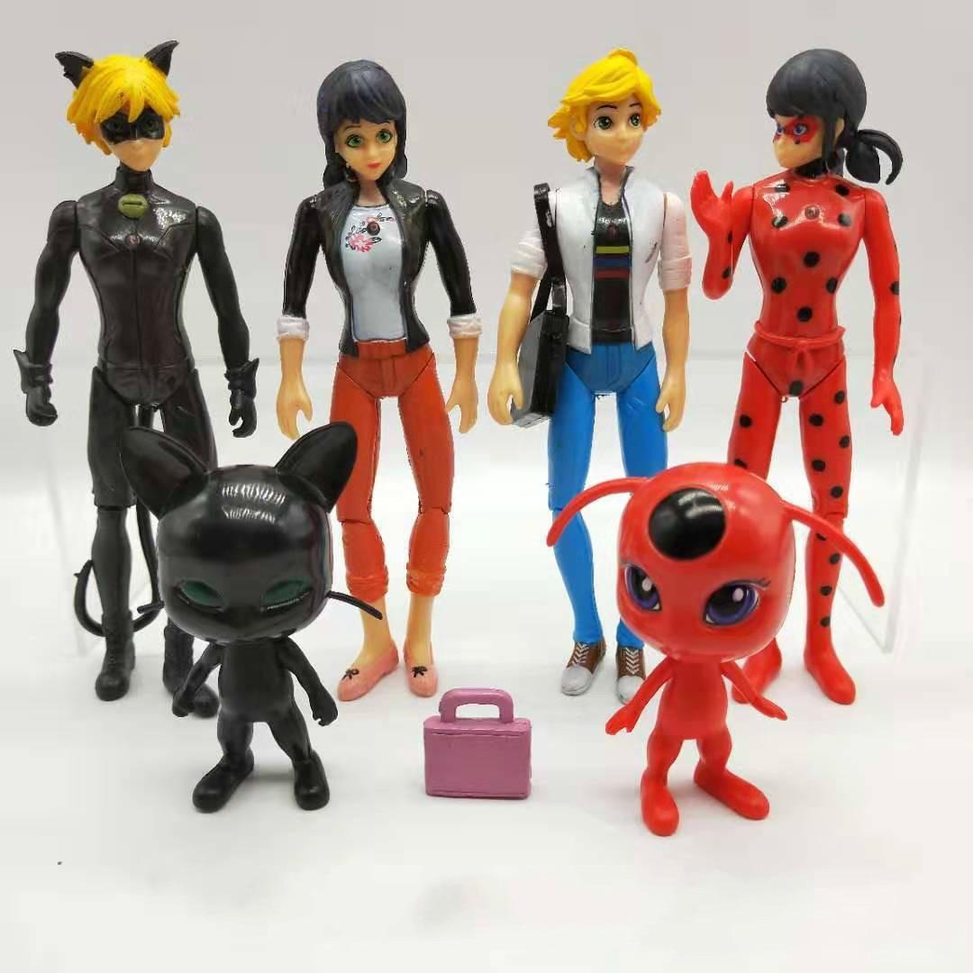 8pcs Miraculous Tales of Ladybug /& Cat Noir PVC Figurines Collectible Figures
