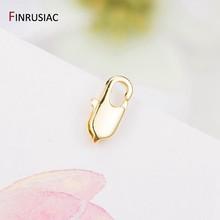 14k real ouro chapeado latão lagosta fechos para diy pulseiras colar artesanal jóias fazendo componentes