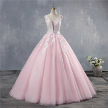 Ball-Gown Quinceanera-Dresses Plus-Size Sweet V-Neck ZJ9149 Beaded Open-Back Long-Tiered