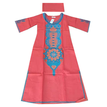 MD african dresses for women 2019 new embroidery long dress ladies dashiki with head wraps womens clothing
