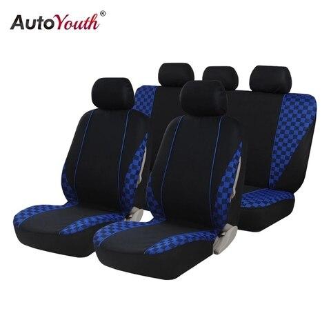autoyouth capas de assento para carros conjunto completo com 9 pecas de capas azuis para