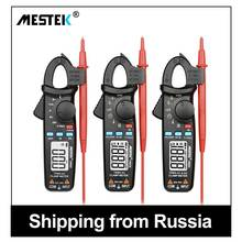 MESTEK Multimeter Digital Clamp Meter AC DC Current Clamp Voltage Resistance Capacitance Tester 40-1000Hz Auto Range Amperimetro ruoshui digital clamp meter multimeter current clamp ac dc voltage current meter auto range capacitance resistance diode tester