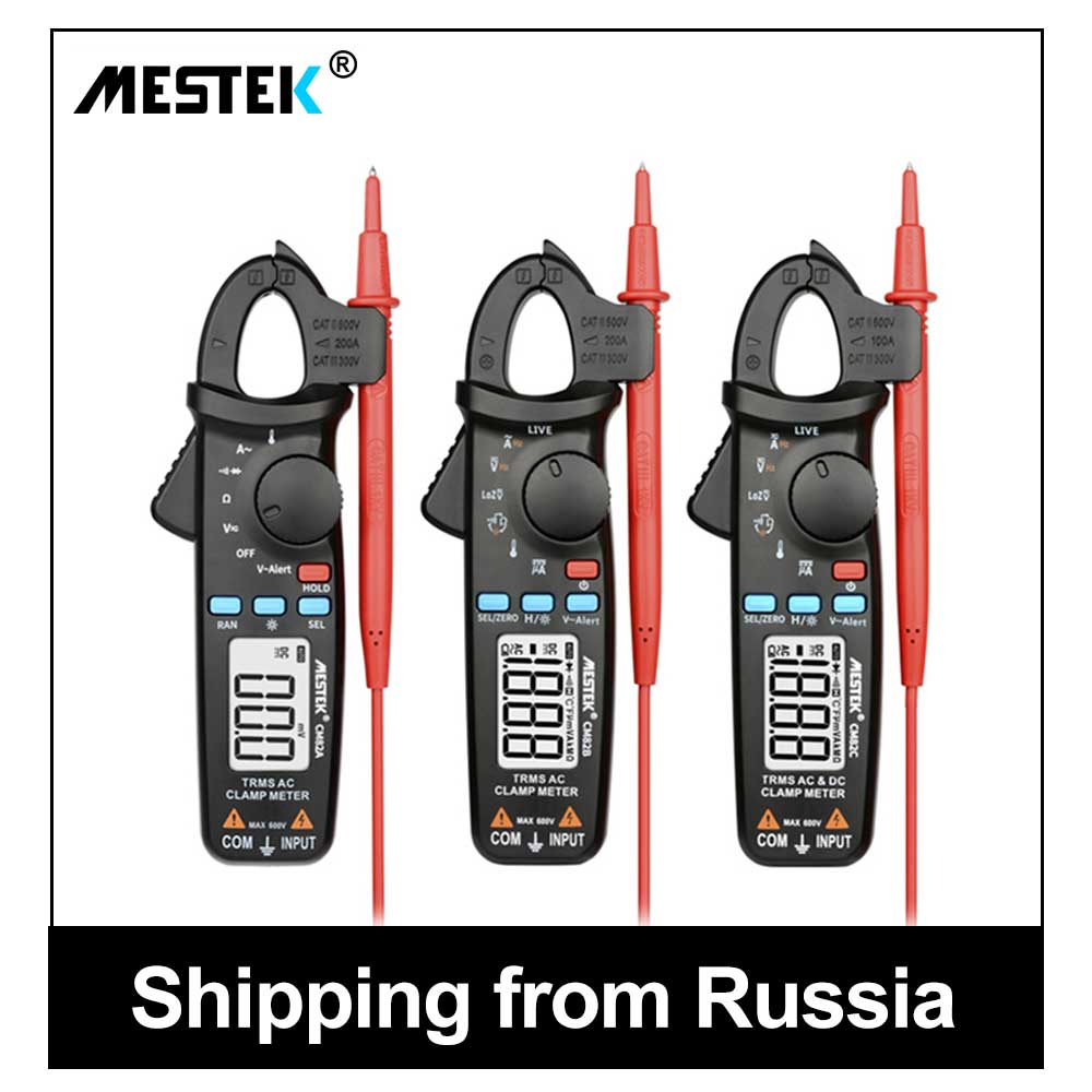 MESTEK Multimeter Digital Clamp Meter AC <font><b>DC</b></font> Current Clamp Voltage Resistance Capacitance Tester 40-1000Hz Auto Range Amperimetro image