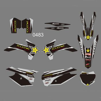 FOR KTM SX SXF XC XCF 125 150 200 250 300 350 450 2013 2014 2015 Full Graphics Decals Custom Number Name Glossy Stickers