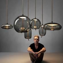 Luminaires suspendus scandinave BROKIS Knot, luminaires de chevet nordiques, Lustre en verre déco, luminaires suspendus