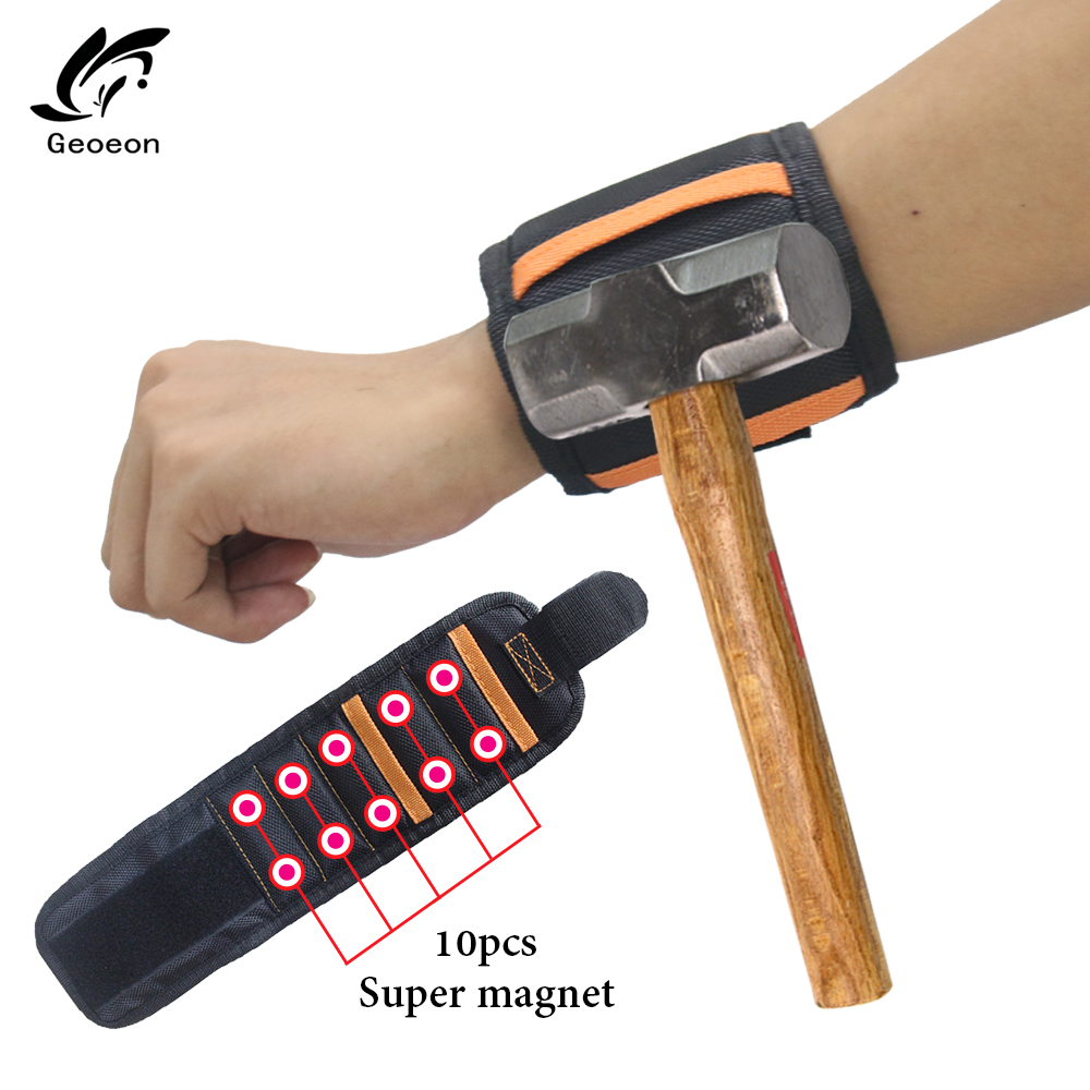 Polyester 1680D Oxford Cloth Magnetic Wristband Repair Tool Portable Tool Bag For Hand Bracelet Screws Drill A35