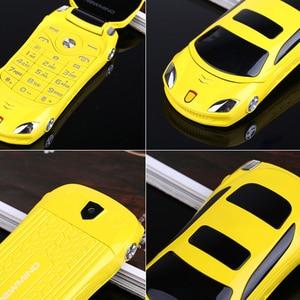 Image 5 - Newmind F15 Car Model Flashlight Dual Sim Cards Mp3 Mp4 FM Radio Recorder Flip Cellphone Car Model Mini Cell Mobile Phone P431