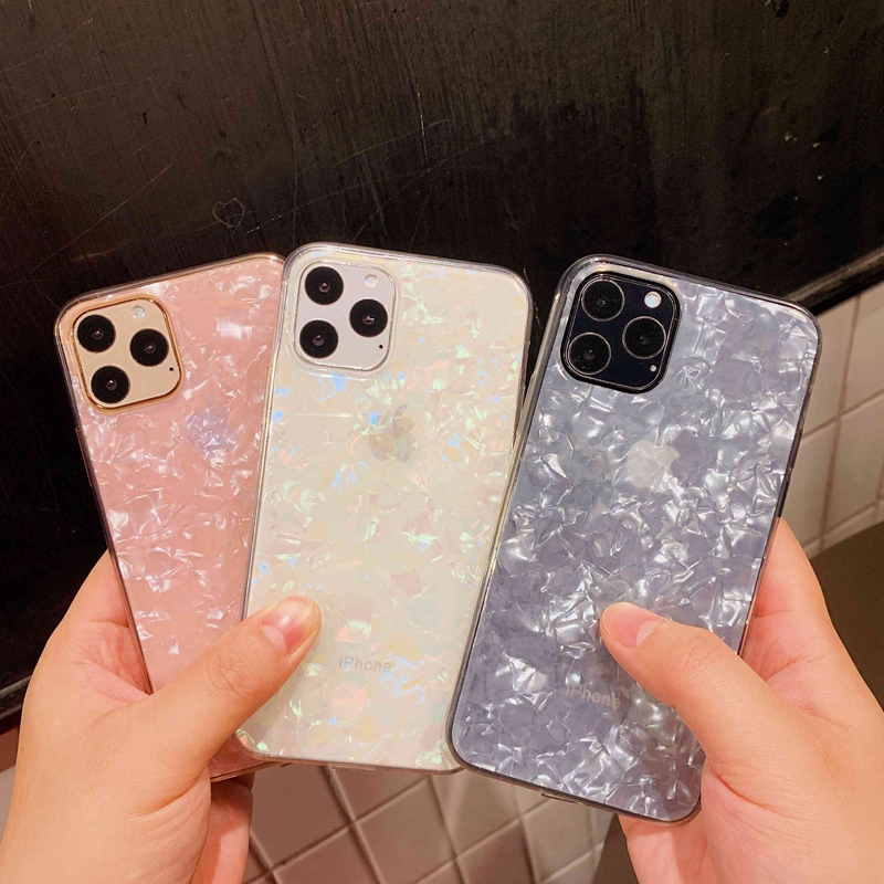 Sparkle and  Crystal Clear Phone Case For iPhone X XR XS 11 Pro Max 8 7 6 6s Plus with Glitter Shell Pattern 2