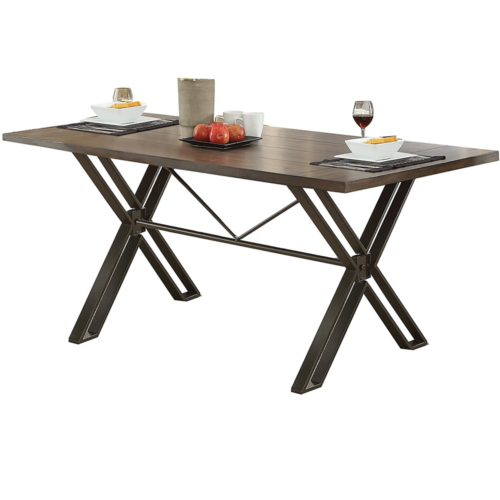 Dinning Table Furniture Kitchen Table Lodoc Dining Table In Walnut & Gunmetal