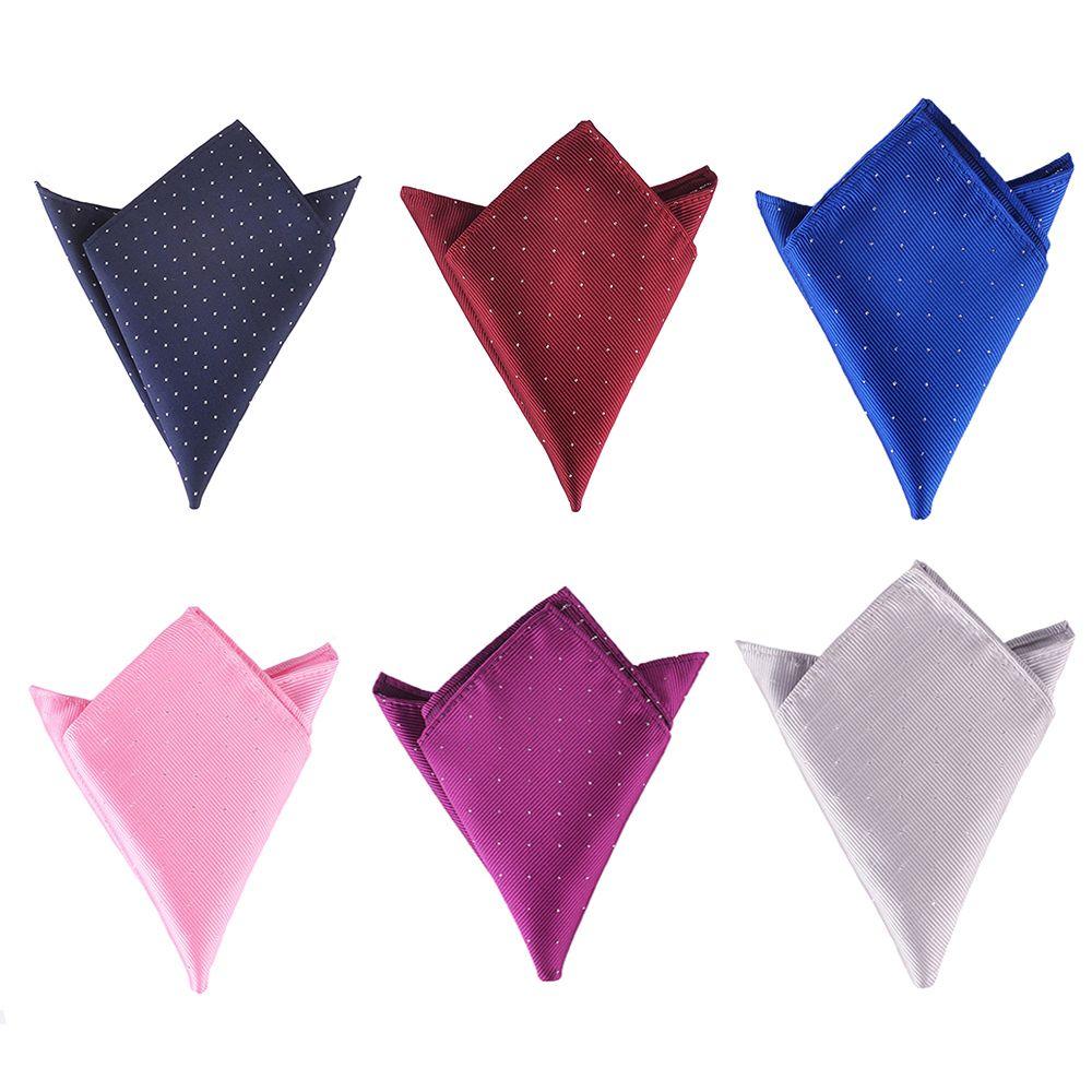 Fashion Men's Handkerchief Polka Dot Striped Square Hanky For Suit Pocket Wedding Party Chest Towel 22*22CM Einstecktuch