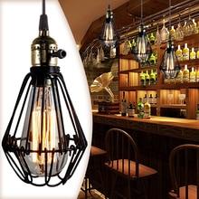 Vintage Nordic Edison Loft Pendant Lights Living Room Bedroome Decoration Lamp Retro Pendant Bird Lighting Retro Home Decorative