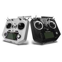 Mais novo frsky taranis q x7 qx7 2.4ghz 16ch transmissor para rc multicopter frsky x7 vôo controle remoto mão esquerda branco