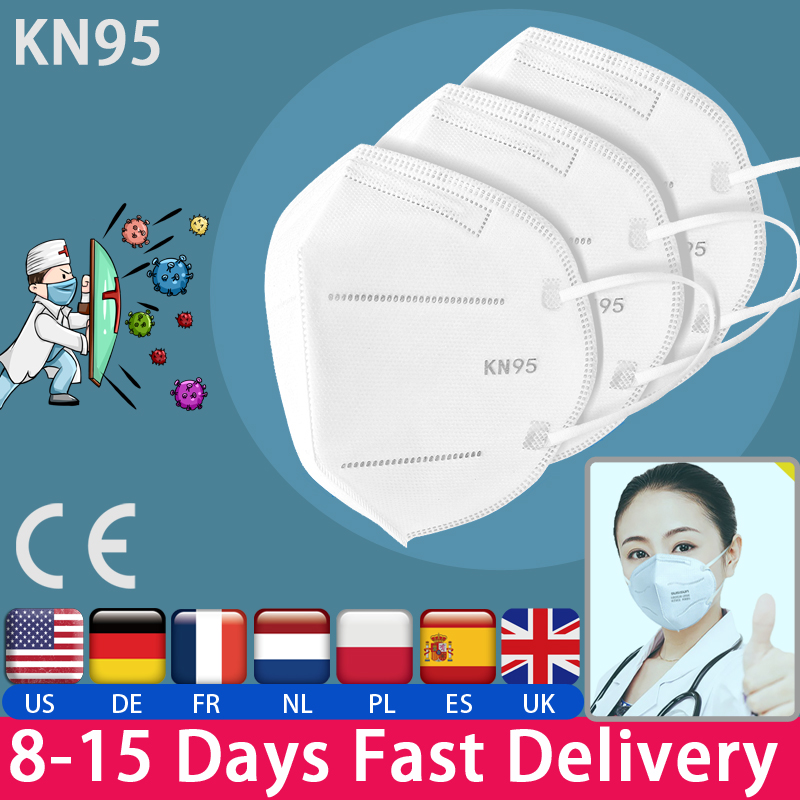 50pcs/Set Fast Delivery Hot Sale KN95 Dustproof Anti-fog And Breathable Face Masks N95 Mask 95% Filtration Features As KF94 FFP2