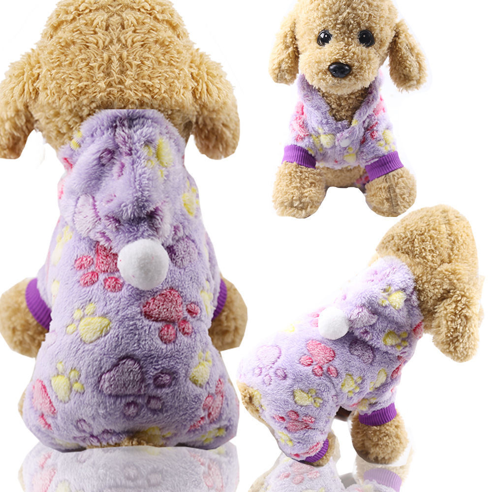 Dog Clothes Pajamas Jumpsuit Winter Pet Clothes Puppy Hoodies Fleece legs Warm Dog Clothing Outfit Small Dog Costume Apparel 18