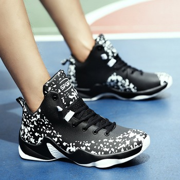 Мужская Баскетбольная обувь для улицы, противоскользящая, износостойкая спортивная обувь на шнуровке, новые дышащие баскетбольные кроссов...