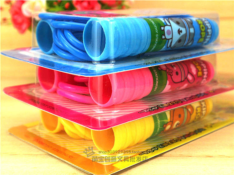 Plastic Skipping Rope Creative Cartoon Children Kindergarten Young STUDENT'S Plastic Toys Unisex Adjustable Cartoon Gift Award