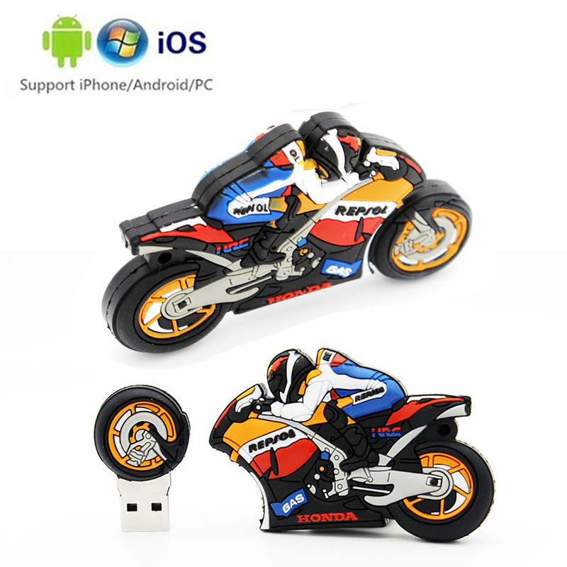 Motorcycle Memory Stick Usb 3.0 Waterproof Usb Flash Drive 128gb U Disk Key Pendrive 64GB 32GB 16GB 8GB 4GB Pen Drive Mini