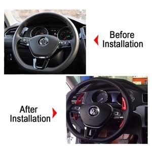 Image 3 - ההנעה מכונית עבור פולקסווגן פולקסווגן גולף 7 MK7 פולו MK6 טוארג רכב הגה הארכת שיפטר אלומיניום את הגה DSG מוט הילוכים