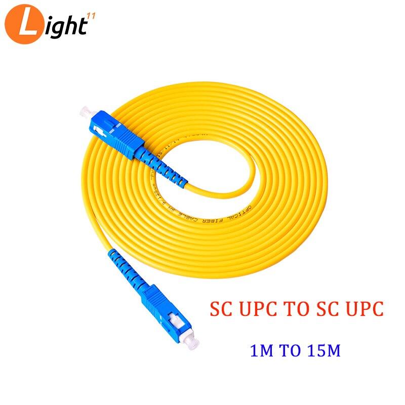 20PCS SC UPC To SC UPC Single-mode Optical Fiber Optic Patch Cord 2.0mm OR 3.0mm PVC  SM FTTH Optic Cable 1m 2m 3m 5m 10m 15m