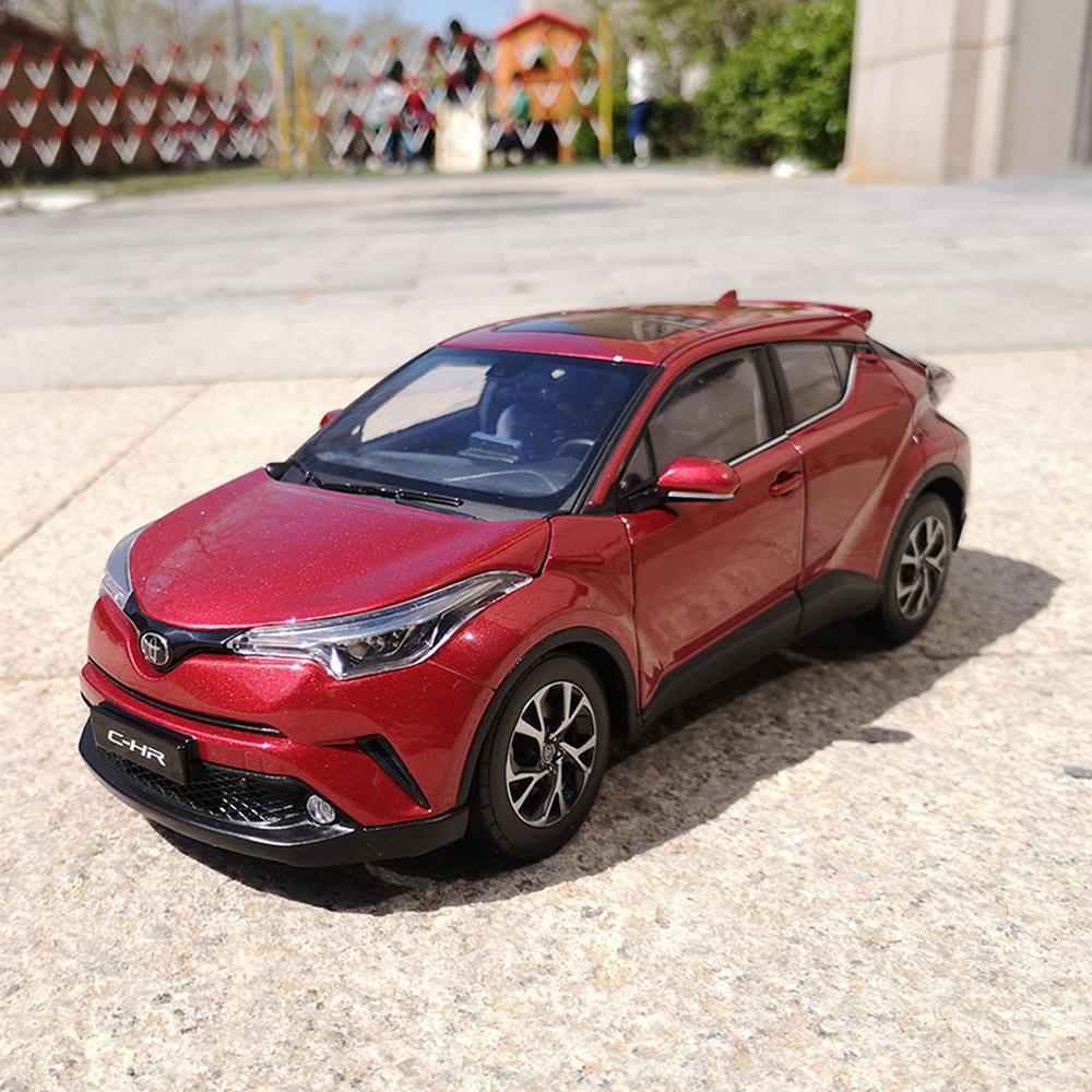 1/18 échelle Toyota C-HR CHR rouge moulé sous pression voiture modèle jouet Collection cadeau NIB