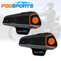 Fodsports 2 stücke BT-S2 Pro motorrad helm intercom motorrad drahtlose bluetooth Headset wasserdichte BT Sprech mit FM