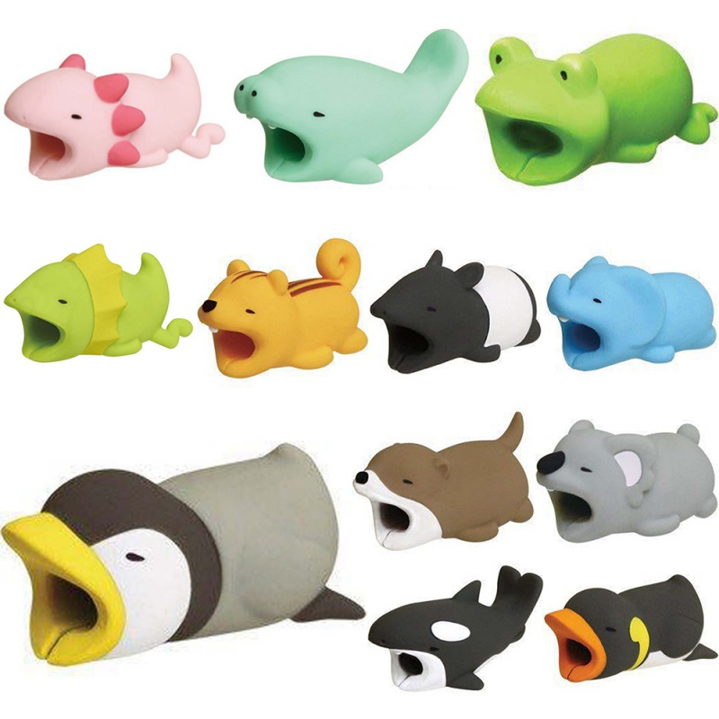 Animal Bite USB Cable Protector Cable Organizer Data Novelty Funny Toys Protection Cable Winder For All Phone Data