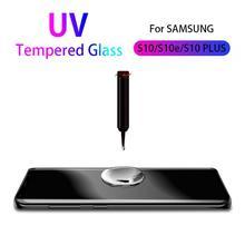 For Samsung s10 s9 s8 plus 5G tempered glass UV glue Nano Liquid protective film for Galaxy note 8 9 s7edge screen protector