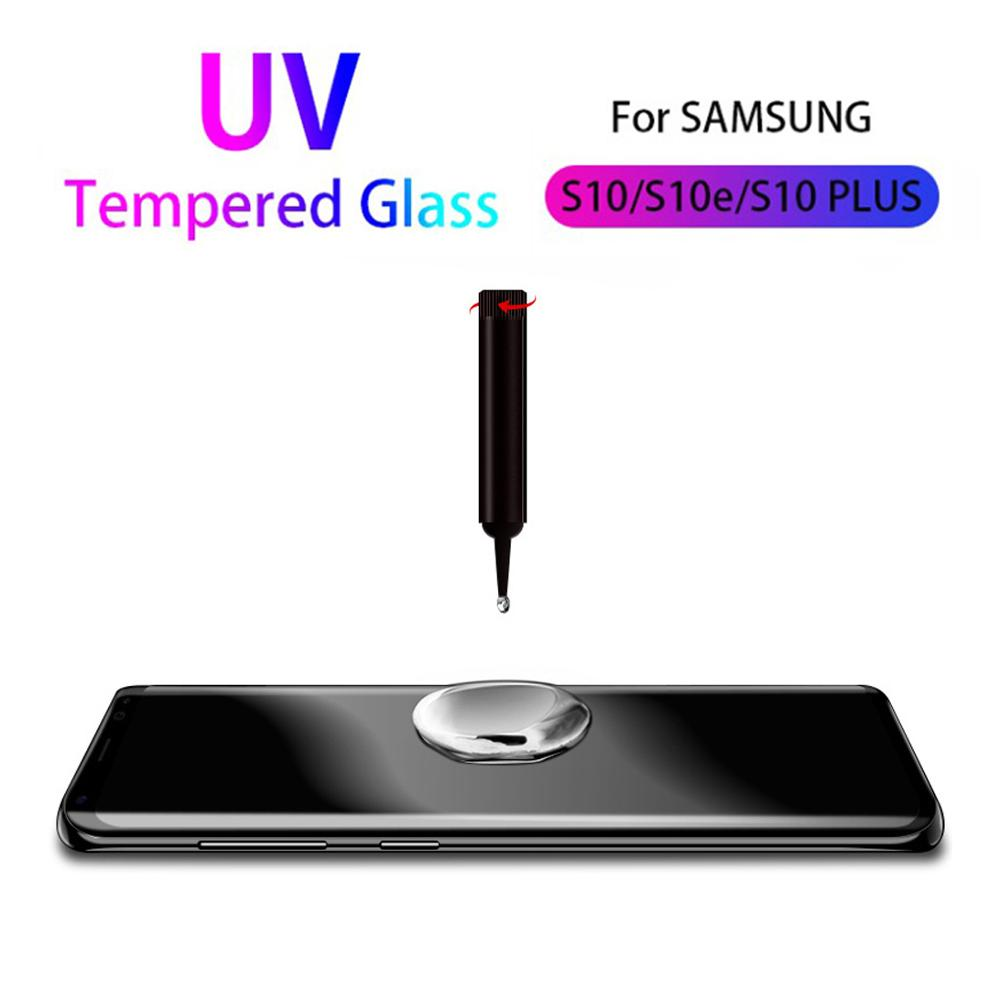 For <font><b>Samsung</b></font> s10 5G <font><b>s9</b></font> s8 plus tempered glass UV glue Nano Liquid protective film for Galaxy note 8 9 S20 Ultra screen <font><b>protector</b></font> image