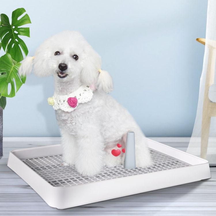Portable Pet Toliet Training Plastic with Pillar Toilet Mat Training Potty  Dog Pad Tray Toilet Training Urinary Trainer Pee Pad|Training Stakes| -  AliExpress