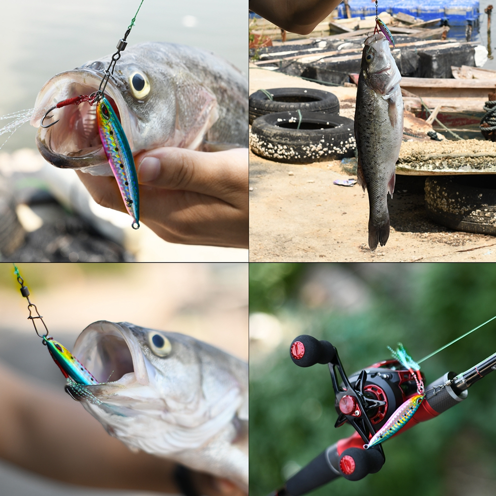 Goture 6pcs Metal Jig Spoon 20g//30g Vertical Jigging Lures Freshwater Saltwater
