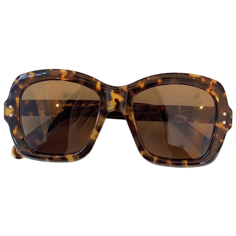 Glass lens retro sunglasses women men Acetate sun glasses Luxury Brand Design Goggles Elegant Female Square
