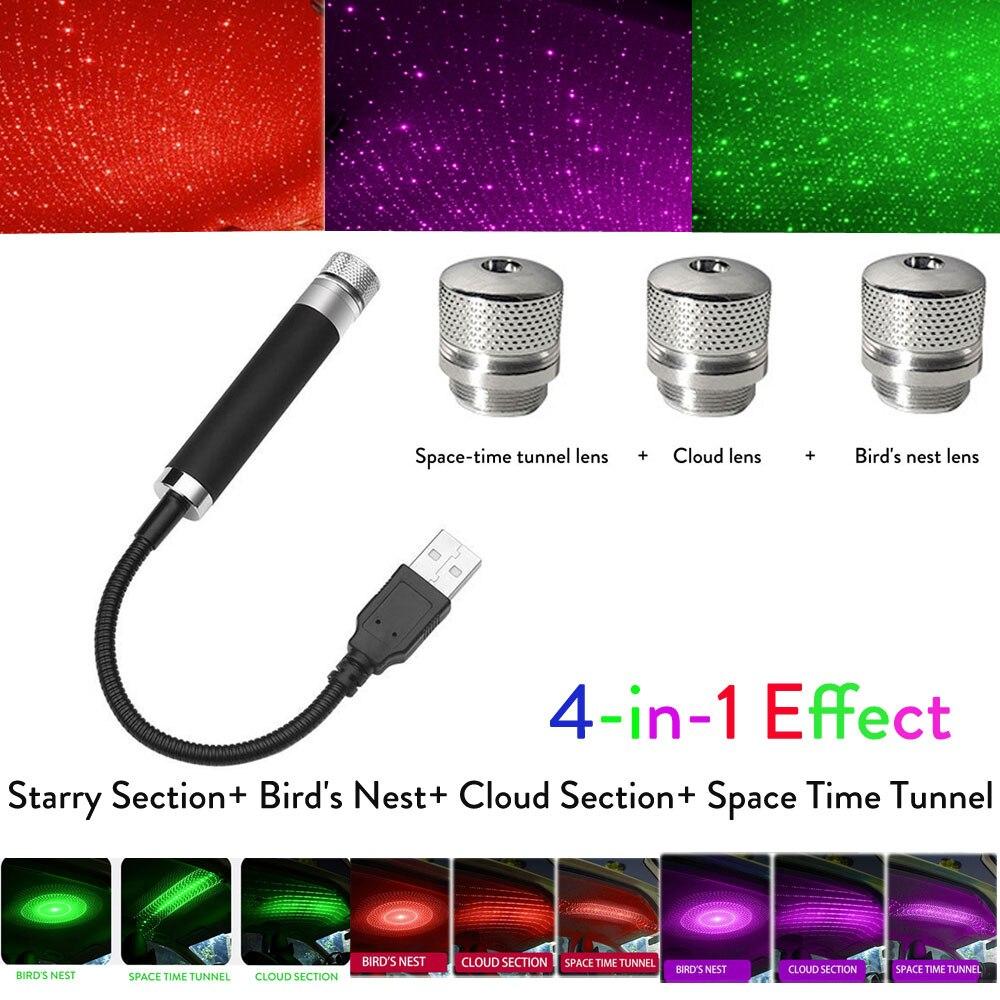 5 в USB СВЕТОДИОДНЫЙ светильник на крышу автомобиля, Ночной светильник, лазерный проектор, атмосферная Галактическая лампа, Декор, регулируемый светильник с несколькими эффектами|Декоративная лампа|   | АлиЭкспресс