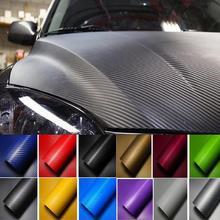 цена на 3D Car Carbon Fiber Car Film Sheet Wrap Sheet Roll Film Waterproof DIY Car Stickers Vinyl Film for Car Decoration 127 x 10cm