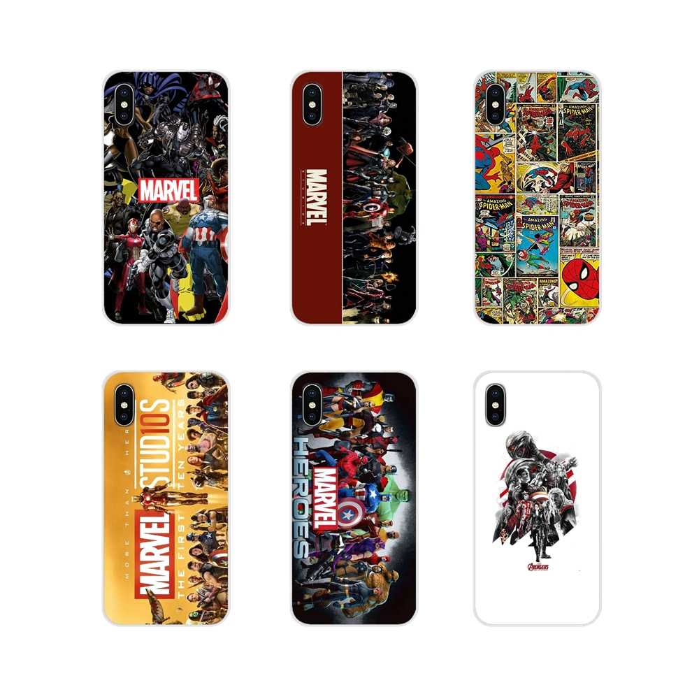 Moda Caixa Do Telefone Para LG G3 G4 Mini G5 G6 G7 Q6 Q7 Q8 Q9 V10 V20 V30 X Power 2 3 K10 K4 K8 2017 Super-heróis Da Marvel The Avengers