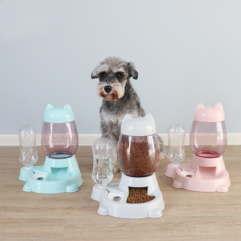 Автоматическая кормушка для собак кошек, миска для собак, кормушка для питьевой воды, кормушка для кормления кошек, большая емкость, дозатор...