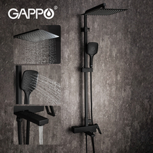 Black Faucet Bathtub Waterfall Shower-System GAPPO Bathroom Hot-And-Cold-Water-Mixer