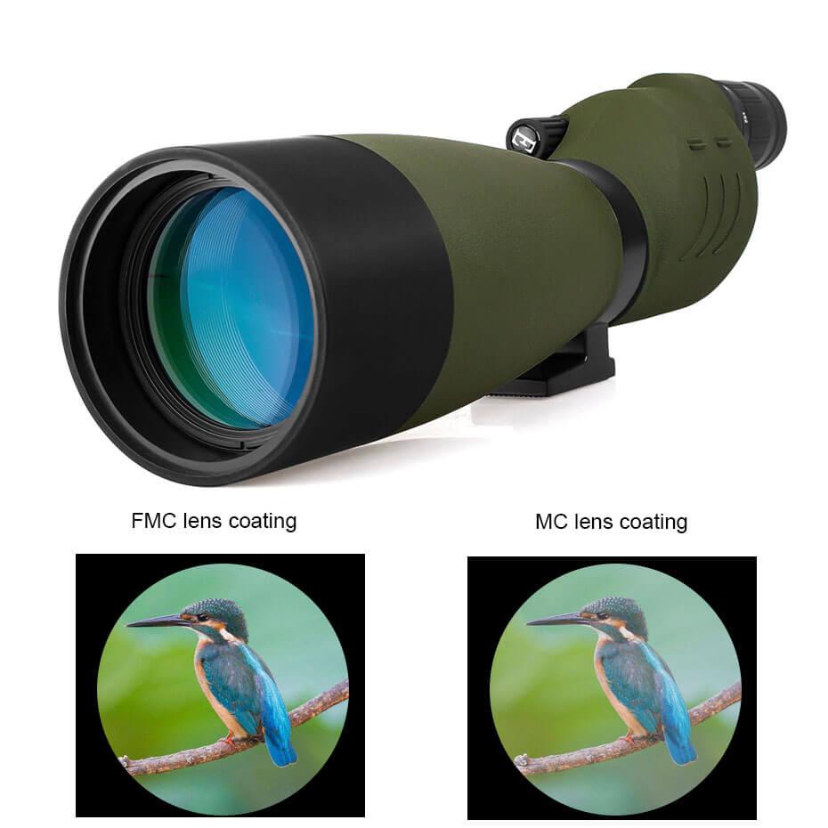 Svbone 25-75x70mm longue-vue SV17 BAK4 étanche droite 180 De Zoom télescope pour l'observation des oiseaux chasse F9326G - 4
