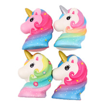 PU Unicorn Animals Cute Slow Rise Kawaii Squish Children's Toys Compression Relief Decompression Squeeze Toys cute simulation animal pu squishy slow rising simulation squeeze decompression kawaii unicorn squish toy stress reliever