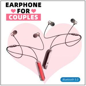 Image 1 - Nekband Bluetooth 5.0 Oortelefoon Draadloze Stereo Sport Headset Magnetische Tws Hoofdtelefoon Met Mic Voor Iphone 11 Draadloze Oortelefoon