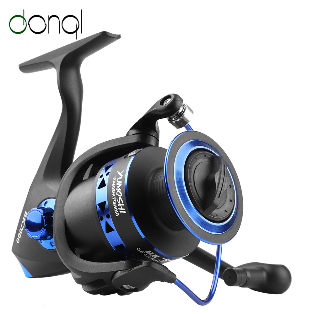 DONQL Professional Fishing Reel Metal Spool Spinning Reel Folding Handle 1000-7000 Series Carp Fishing Tackle Accessories