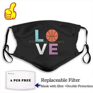 Masque de visage amour basket-ball, joueur de basket-ball t-shirt pour les filles femmes masques Cool drôles