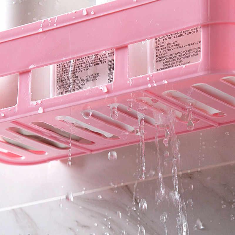 Nowa półka łazienkowa przechowywanie uchwyt na szampon uchwyt kuchenny do przechowywania organizator półka ścienna uchwyt łazienkowy półki narożna półka po prysznic